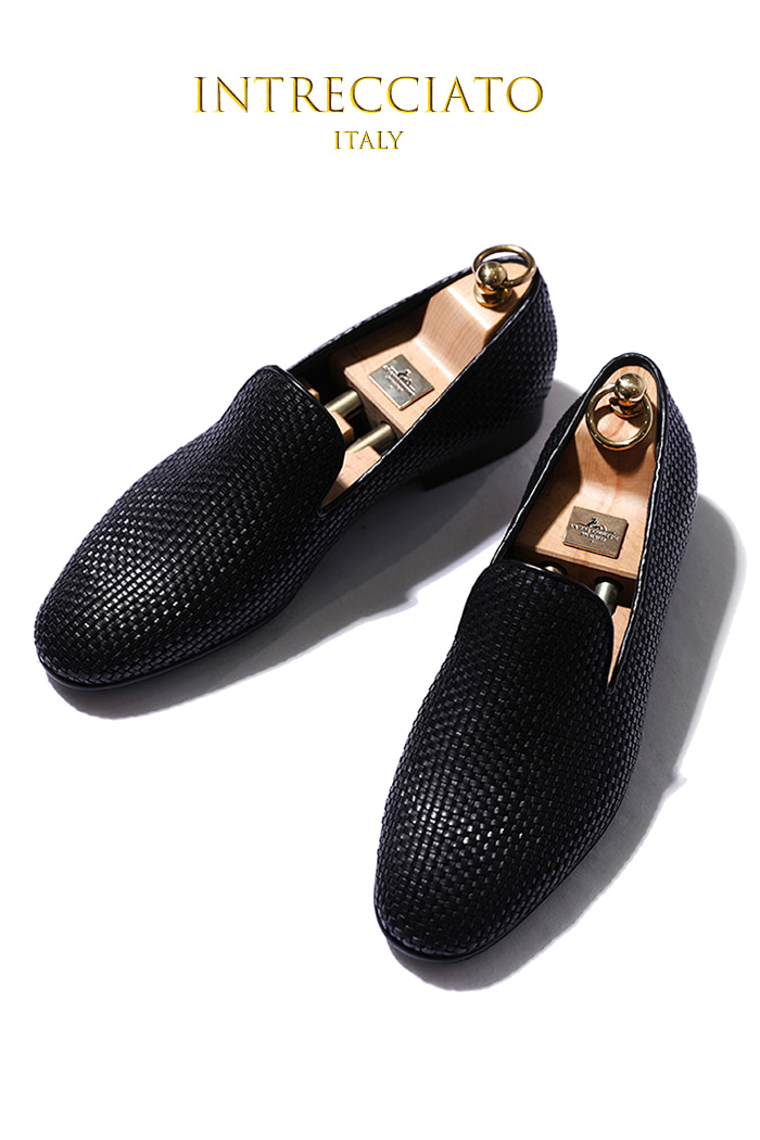 Take438 artisan intrecciato loafer/black-프리미엄 에디션-