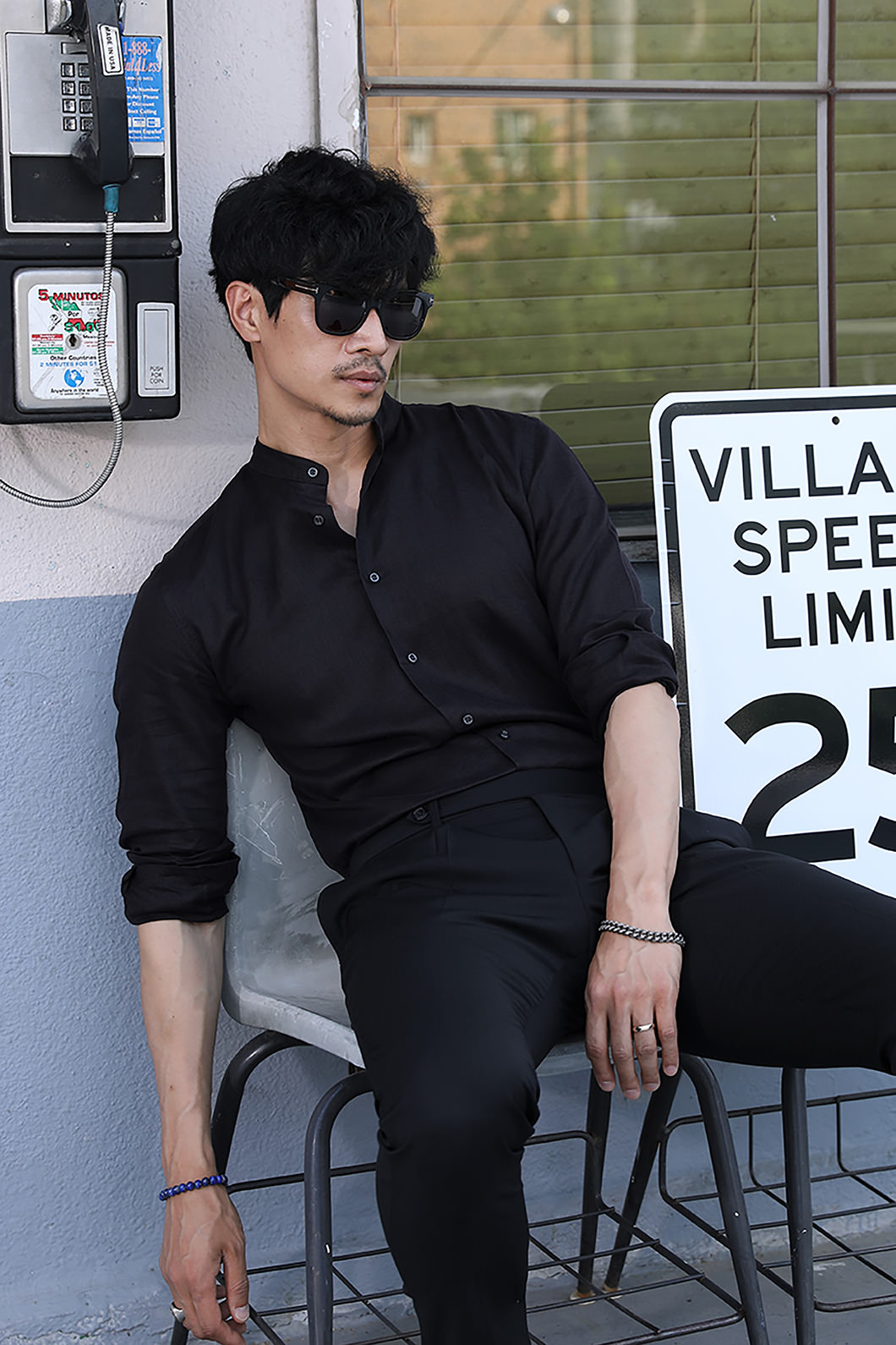497 FRENCH LINEN CHINA COLLAR SHIRT-BLACK적극추천-품절임박-Best Seller!!