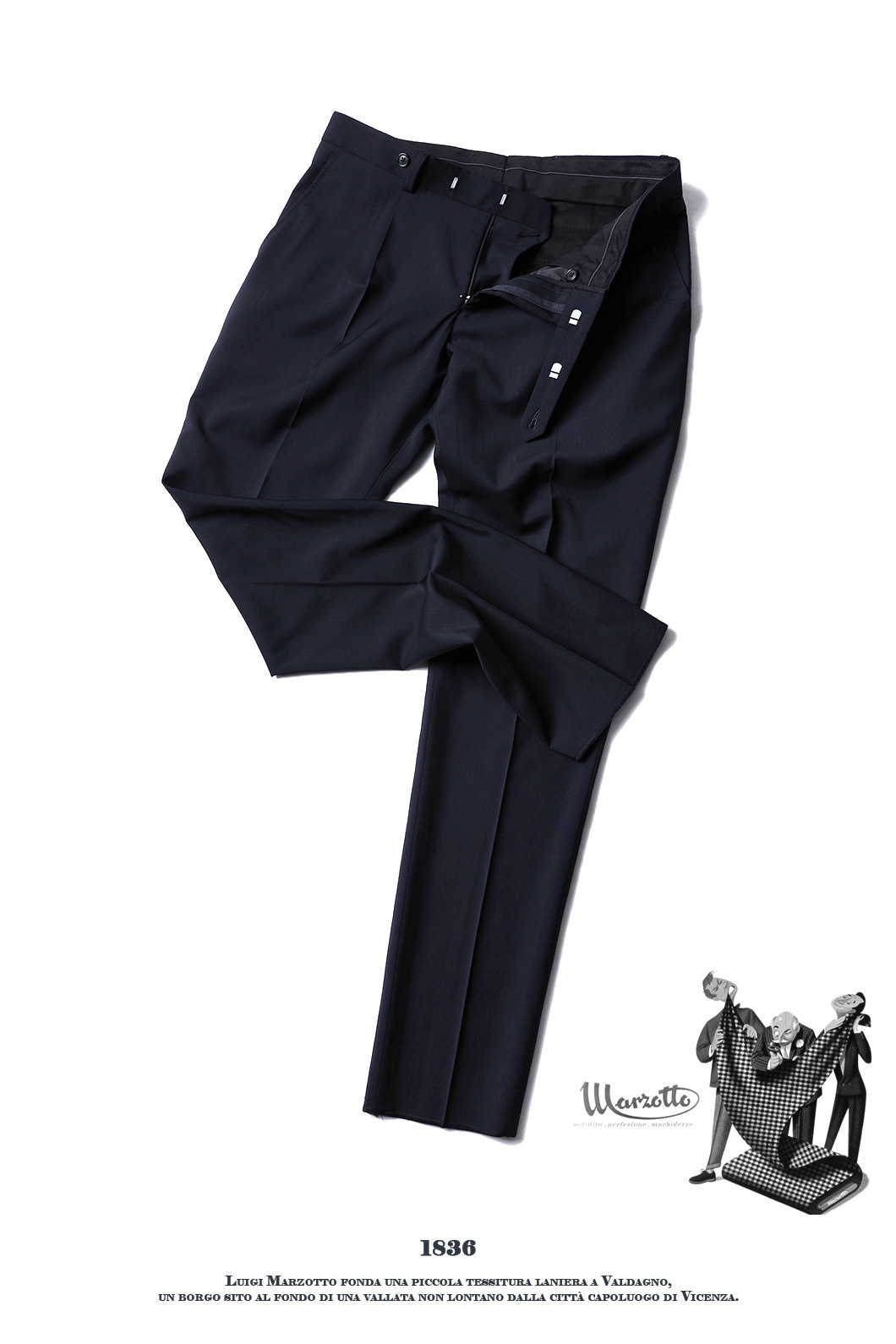 493 ITALY MARZOTTO VOLUME SLACKS PANTS-NAVY봄,가을시즌 추천 슬렉스!!