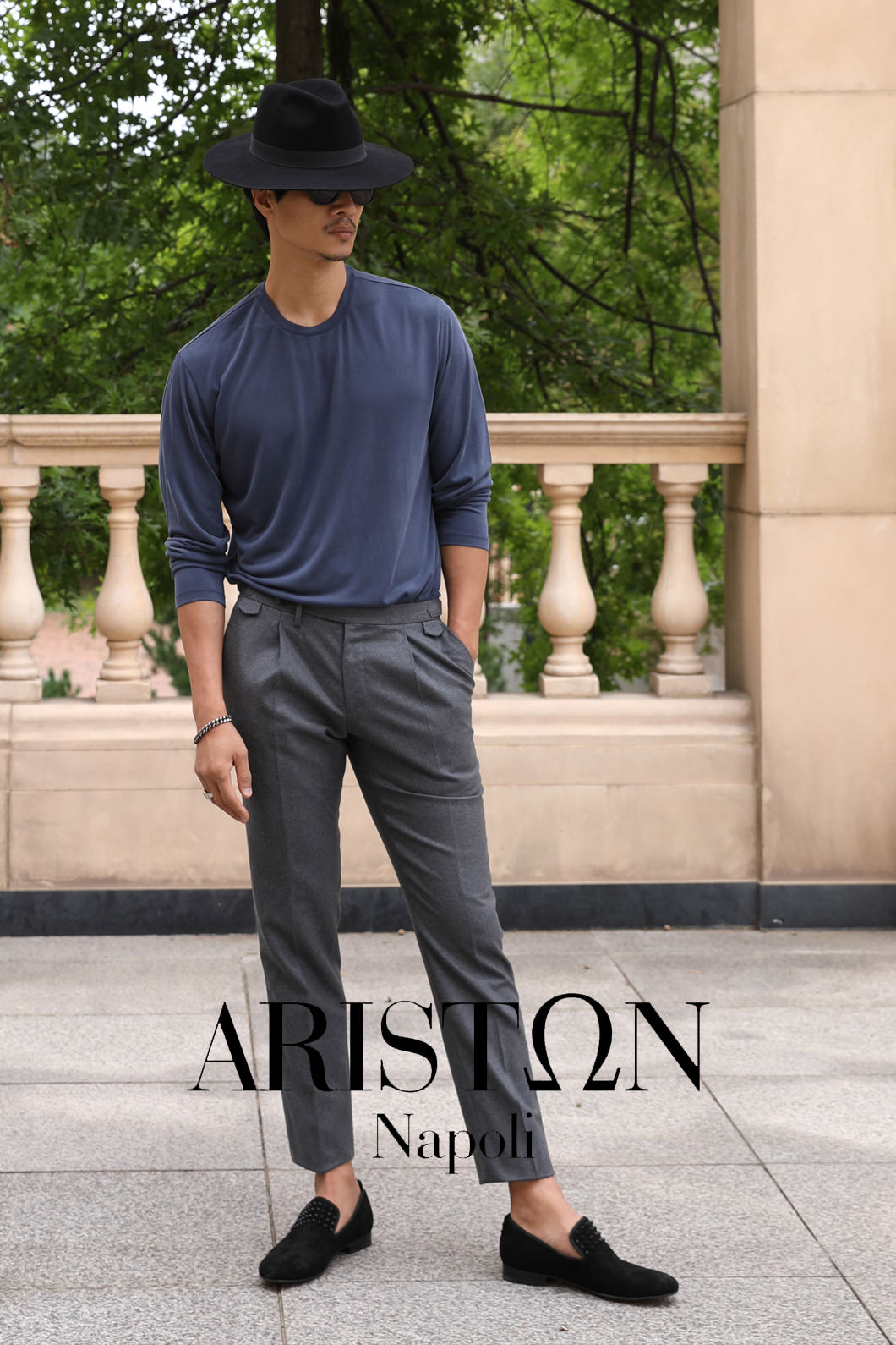 TAKE508 ITALY ARISTON NAPOLI WOOL PANTS-KHAKI GRAY2/1이상 판매완료!!