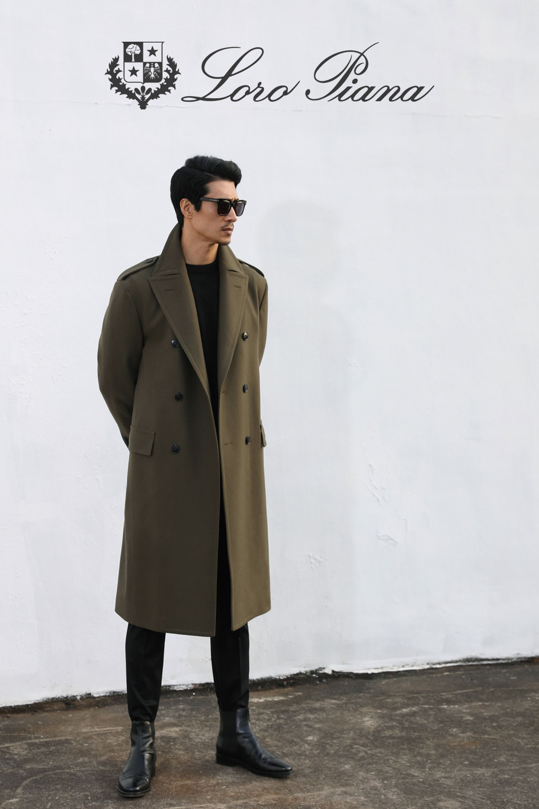 TAKE516 LOROPIANA COMMAND COAT-OLIVE로로피아나 코트