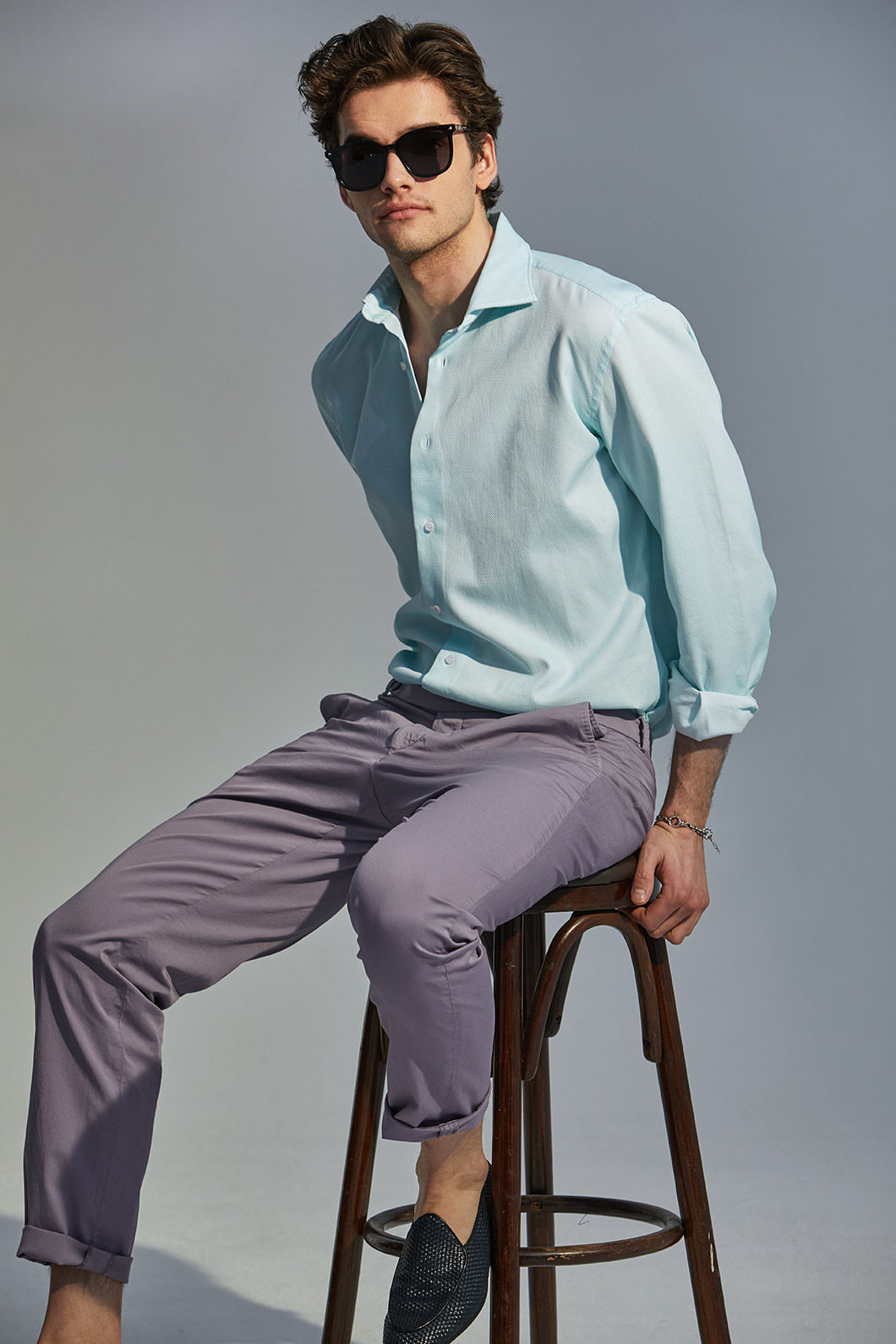 489 ITALIA Andreazza&Castelli WIDE COLLAR SHIRT-MINT품절임박!-주간베스트