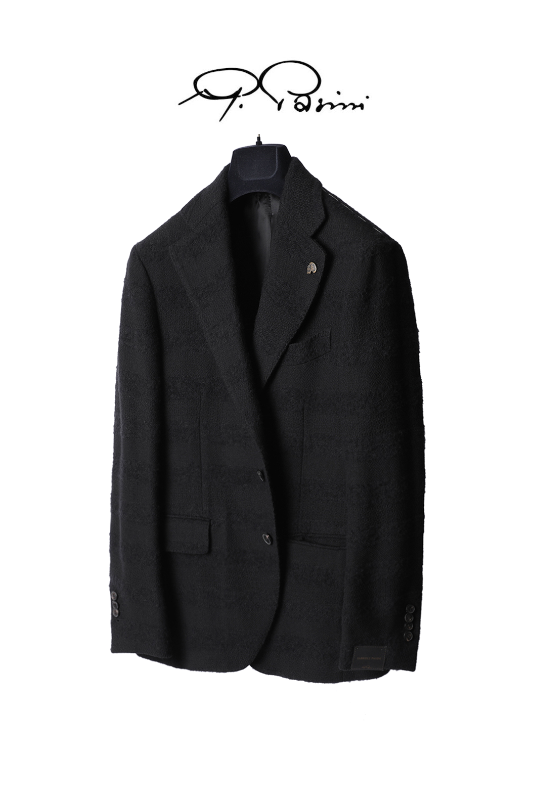 PASINI Single Boucle Breasted Jacket-Black