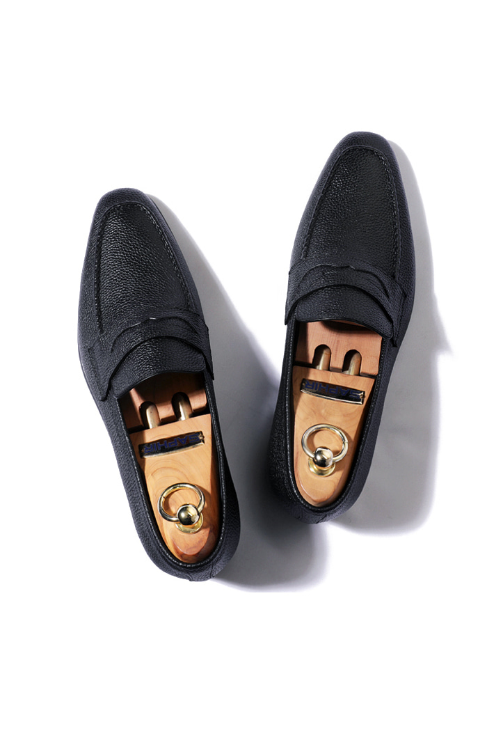 Take402 artisan penny loafer/black[italy calf-bologna.ver]