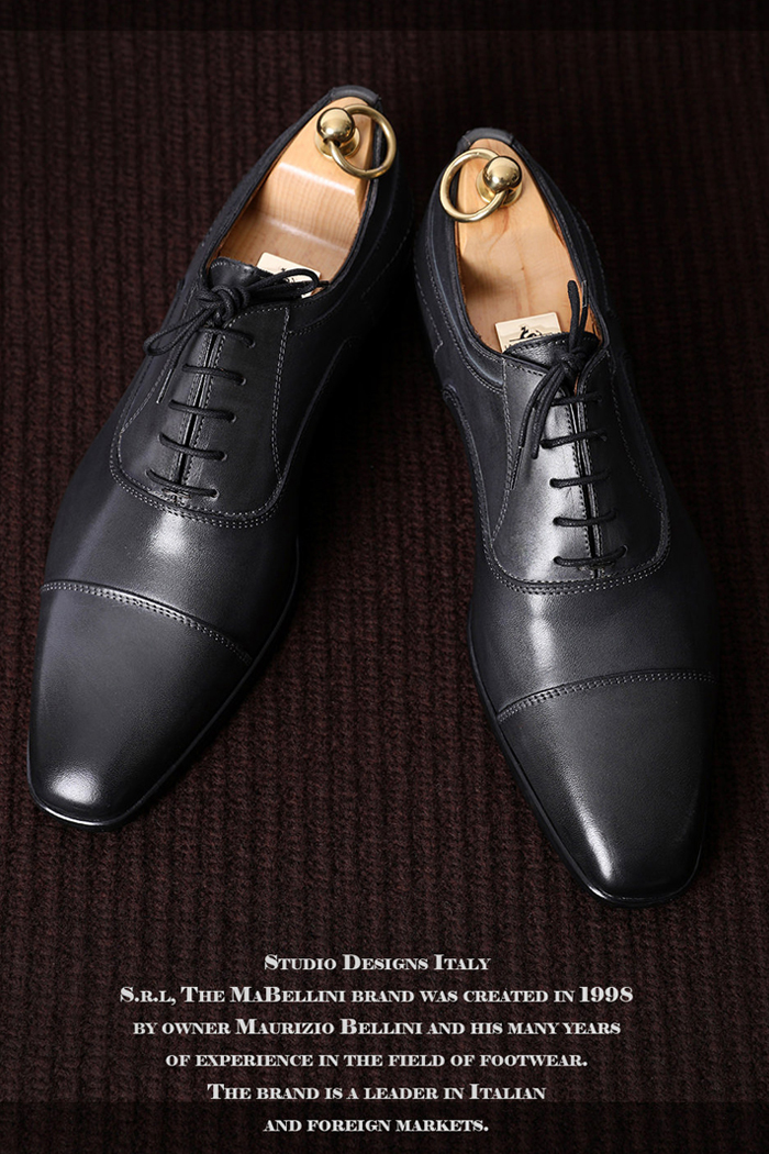Take448 Mabellini Shoes-Dark gray[Made in ITALY]
