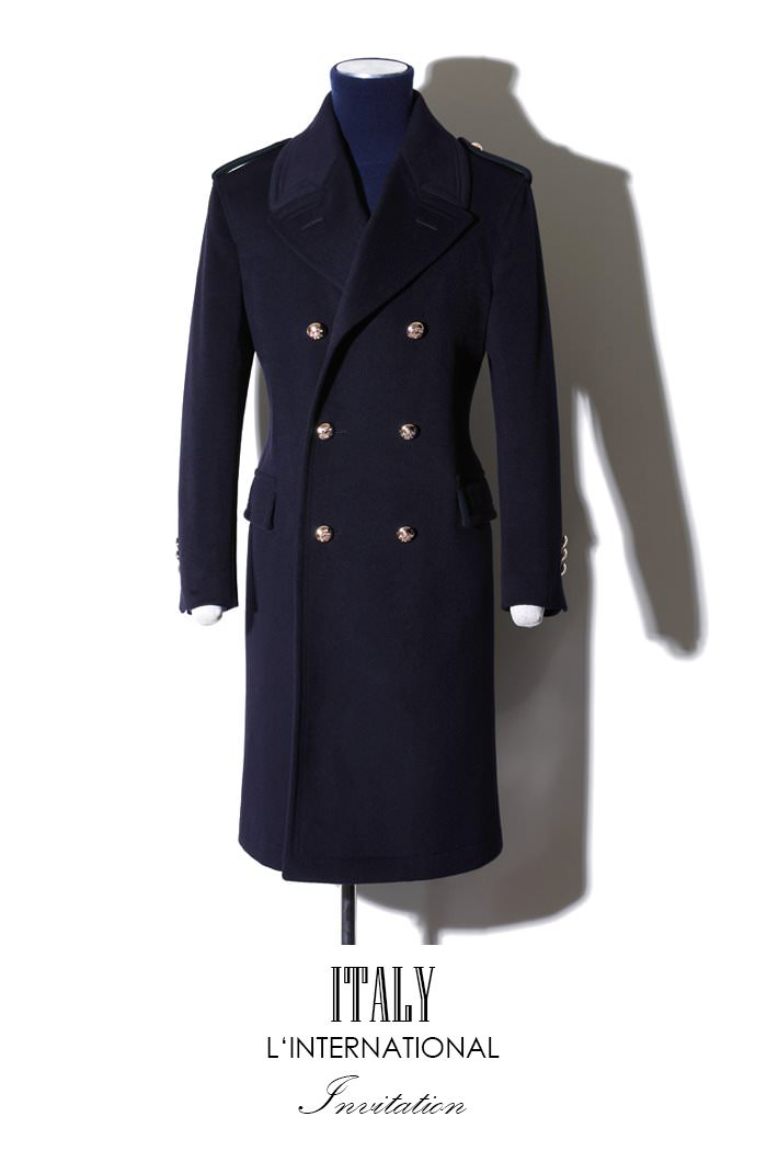 Take399 Commander Italy cashmere coat/navy[Italy series limited edition]-장혁협찬