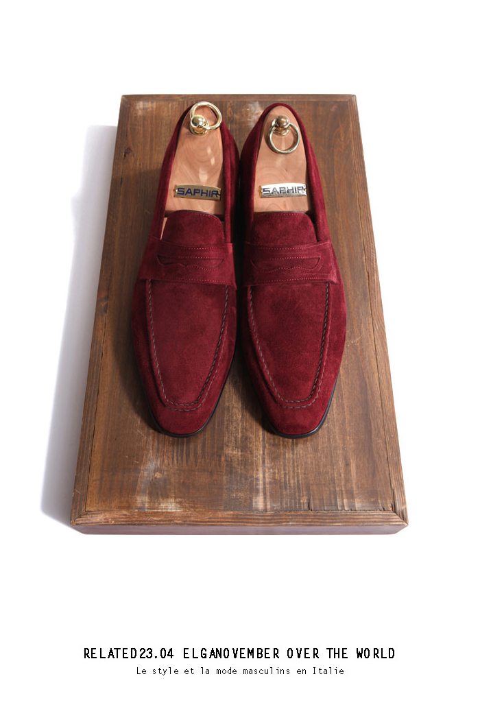 Take208 artisan loafer/wine[black label series]-배우 정우성 협찬