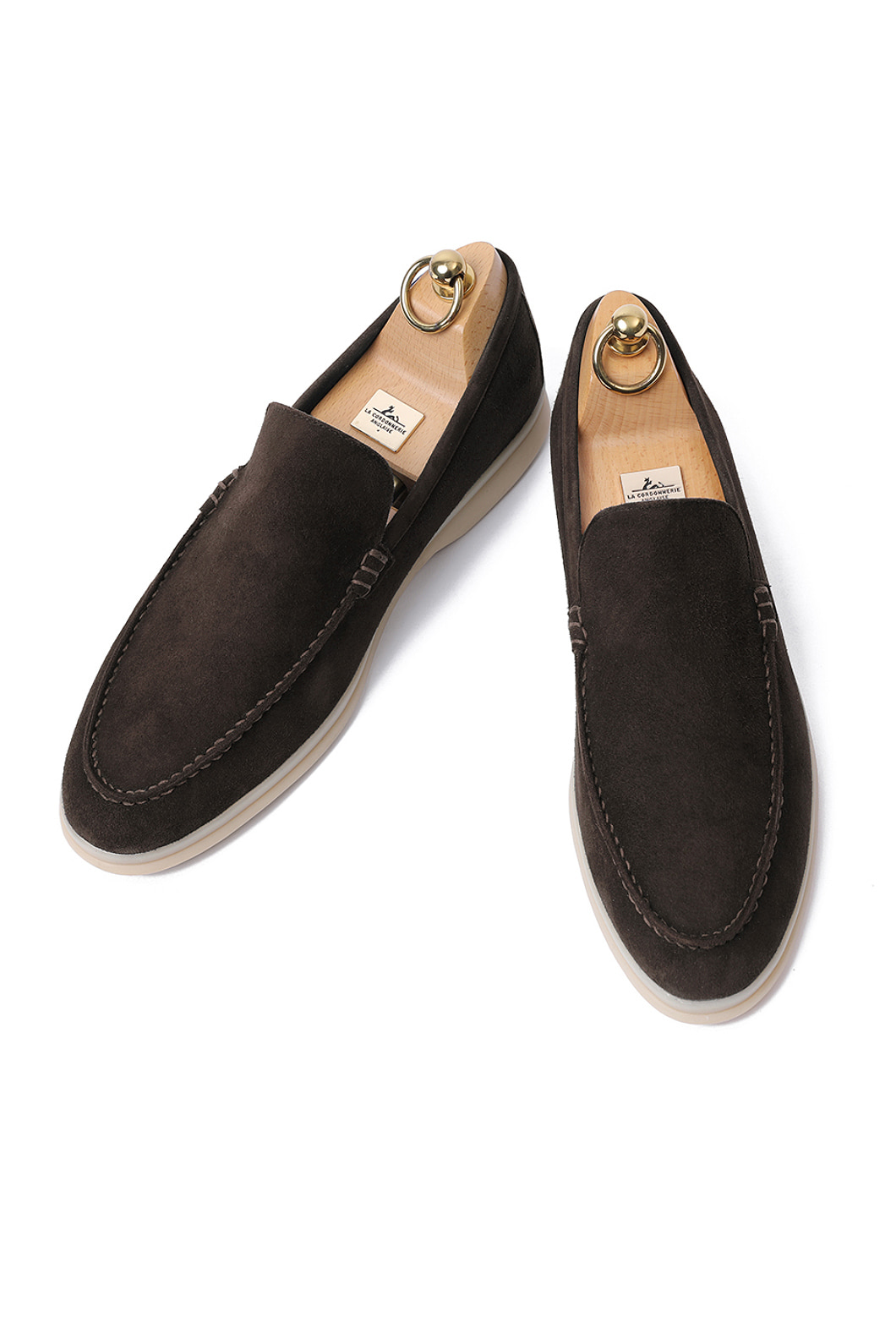 LOWER SUEDE LOAFER-DARK BROWNITALY Leather