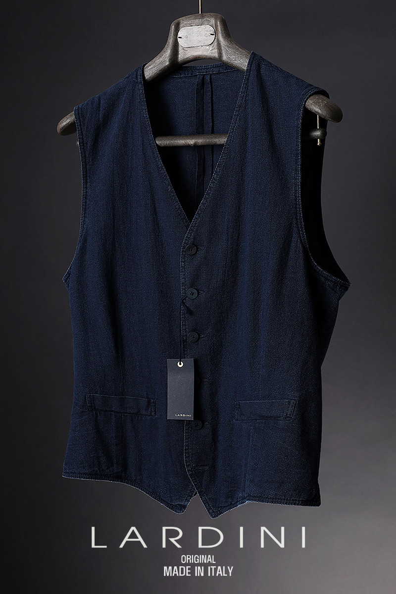 LARDINI WASHING VEST-NAVY
