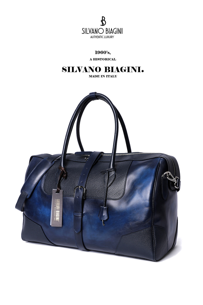 SILVANO BIAGINI BOSTON BAG-NAVY