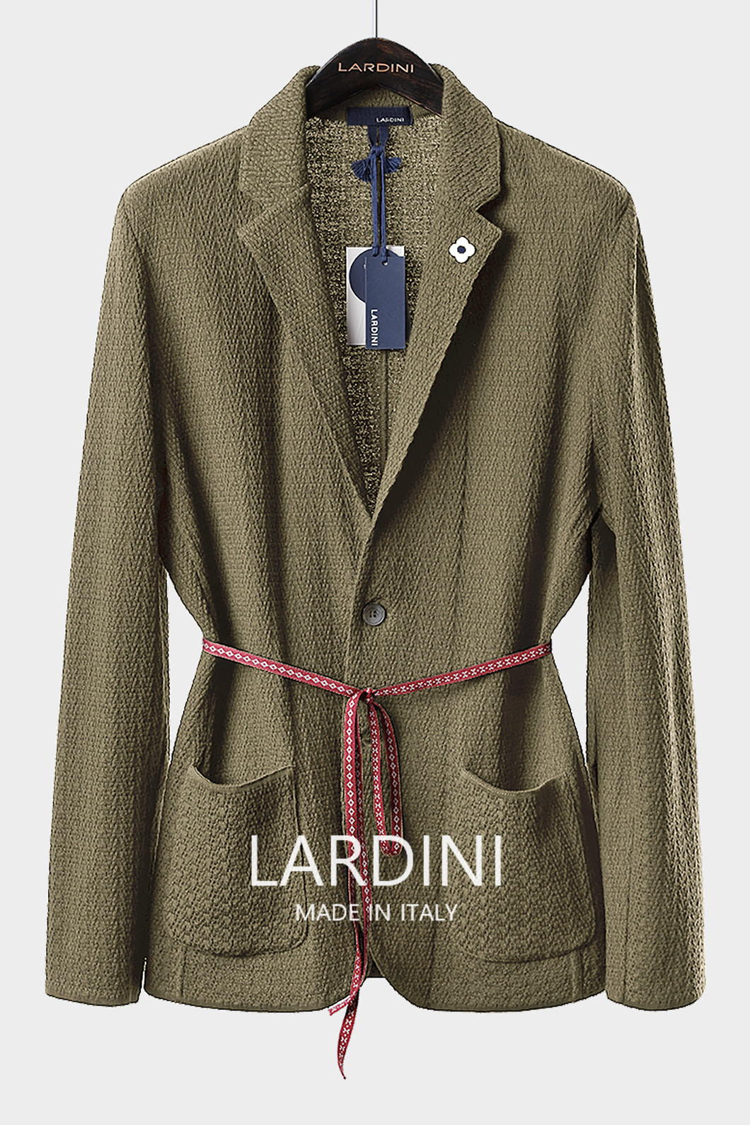 LARDINI SINGLE DIAMOND KNIT JACKET-BEIGE[ITALY-Original]-극소량 한정!