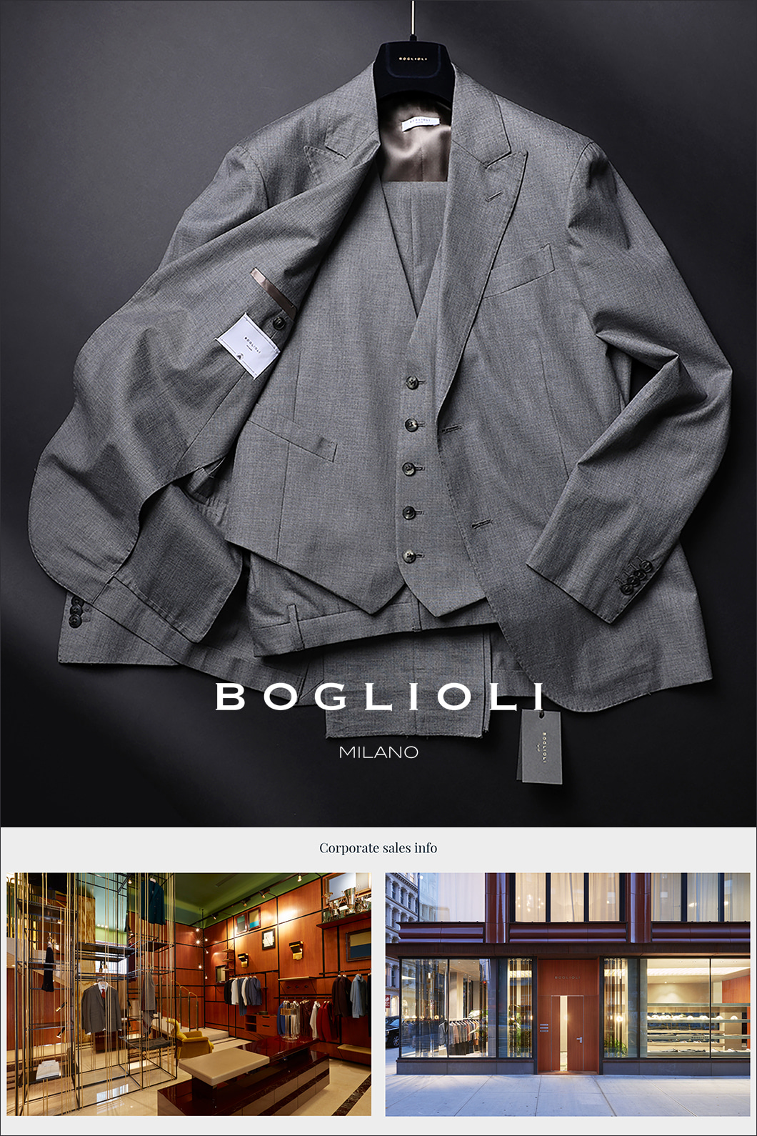 BOGLIOLI THREE PIECE SINGLE SUIT-GRAY비(RAIN) 협찬