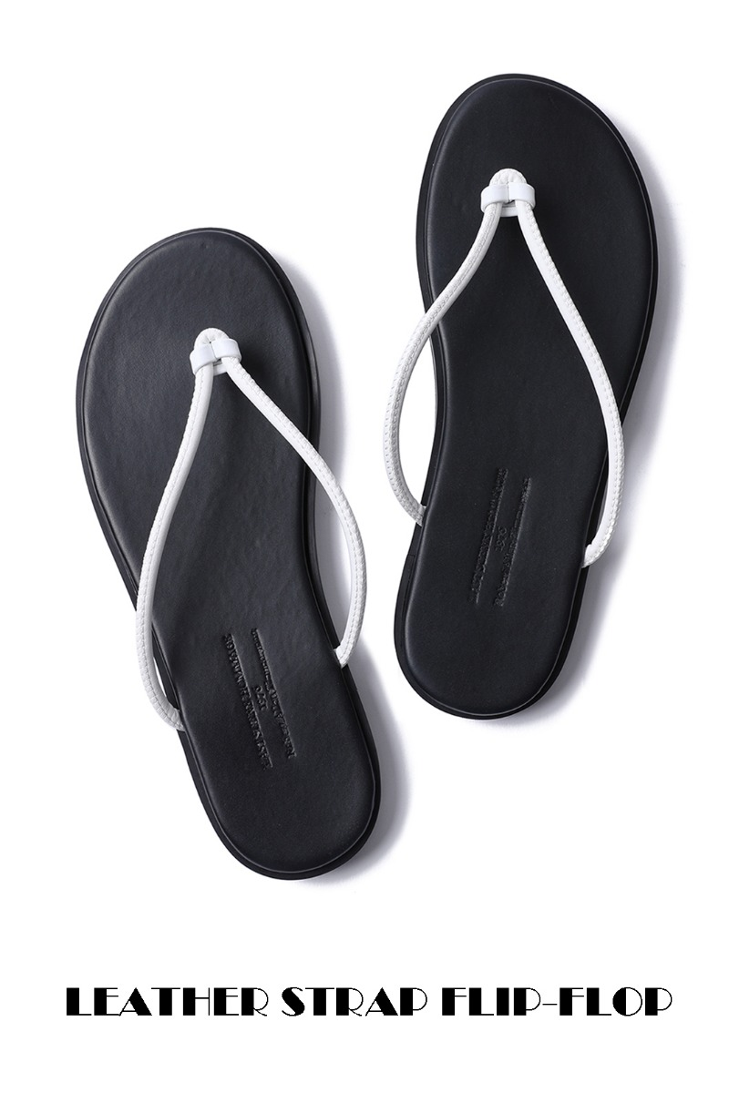 LEATHER STRAP FLIP-FLOP-WHITE남여공용-230사이즈부터!