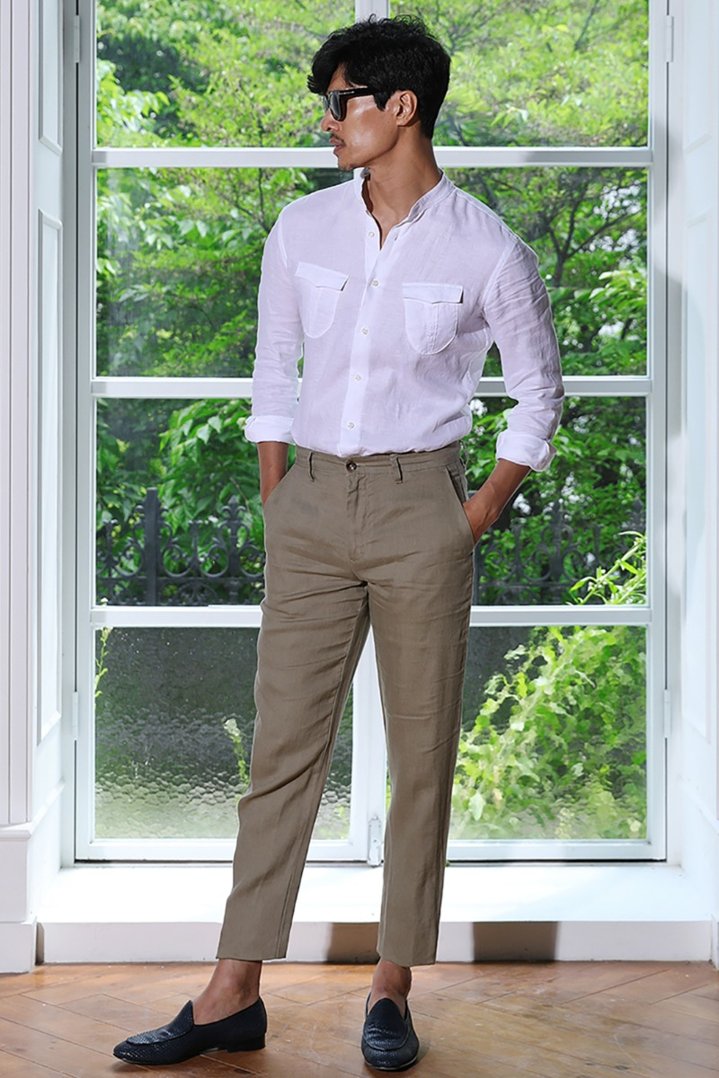 DRENAN LINEN SLACKS PANTS-3COLOR수입한정제품