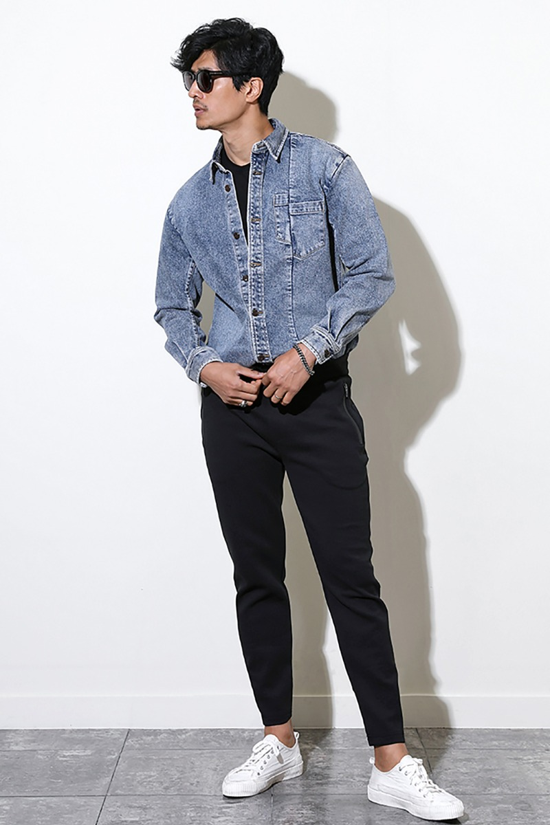 GODON DENIM SHIRT JACKET-BLUE수입한정제품