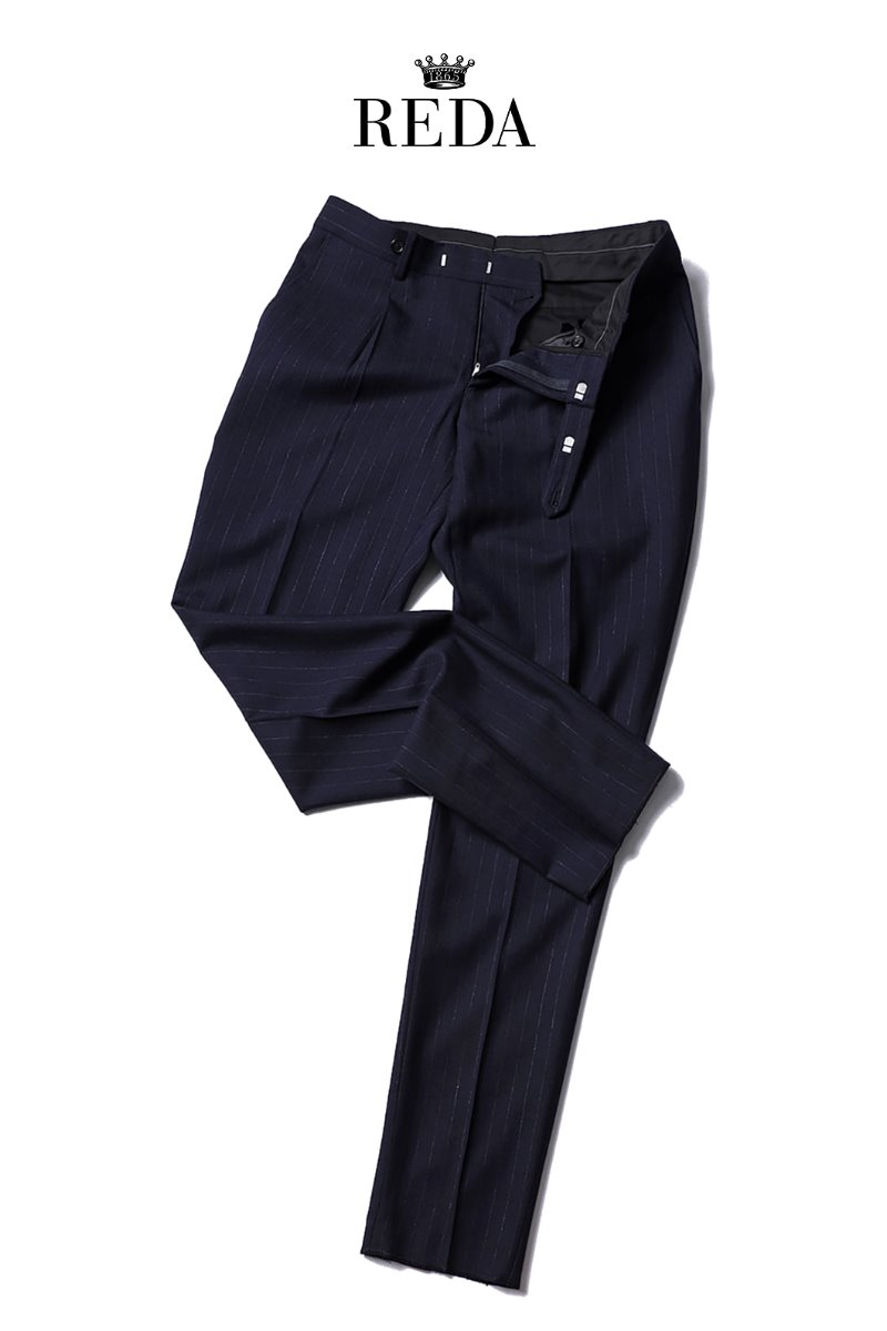 507 ITALY REDA 1865 STRIPE SLACKS PANTS-NAVY2/3이상 판매완료!!