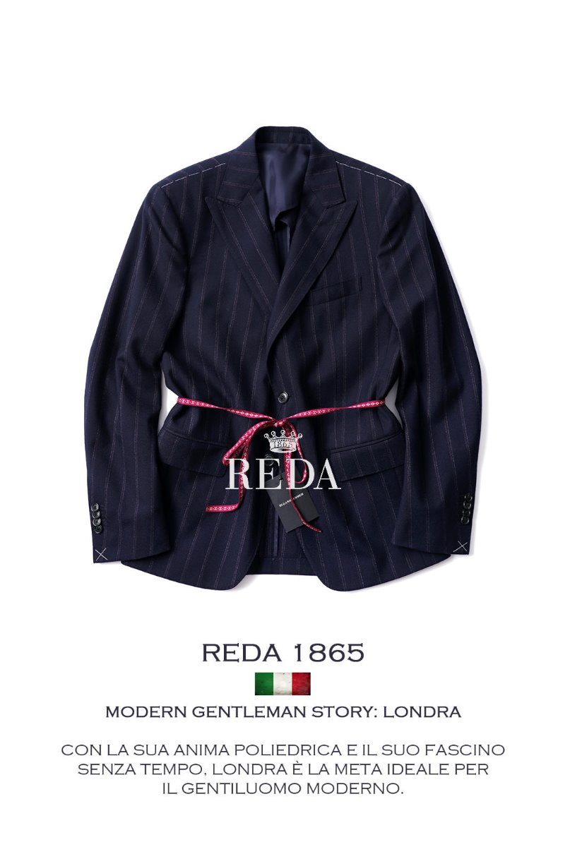 TAKE485 ITALIA REDA 1865 STRIPE SINGLE JACKET-NAVY가을시즌-BESTSELLER!-2019FW 재입고 후 3/2판매완료!