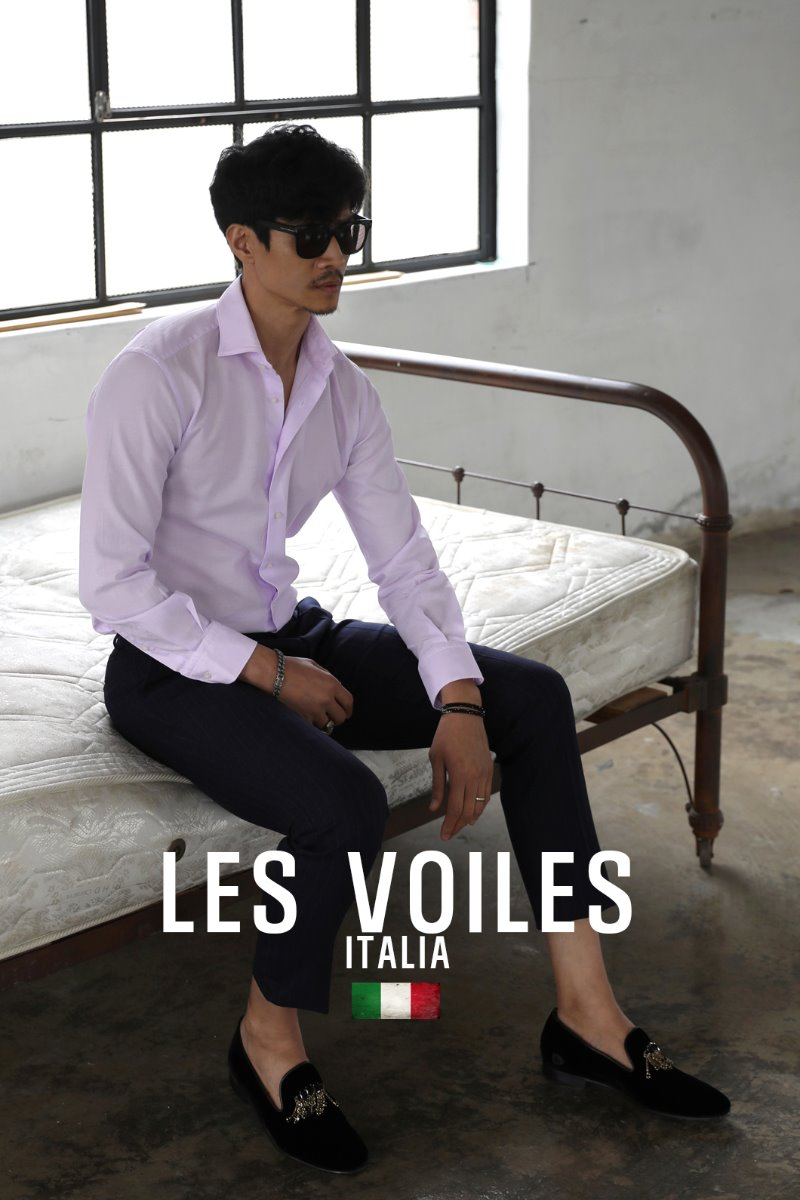 TAKE505 ITALIA WIDE COLLAR SHIRT-MOOD PINK-2/1이상 판매완료!