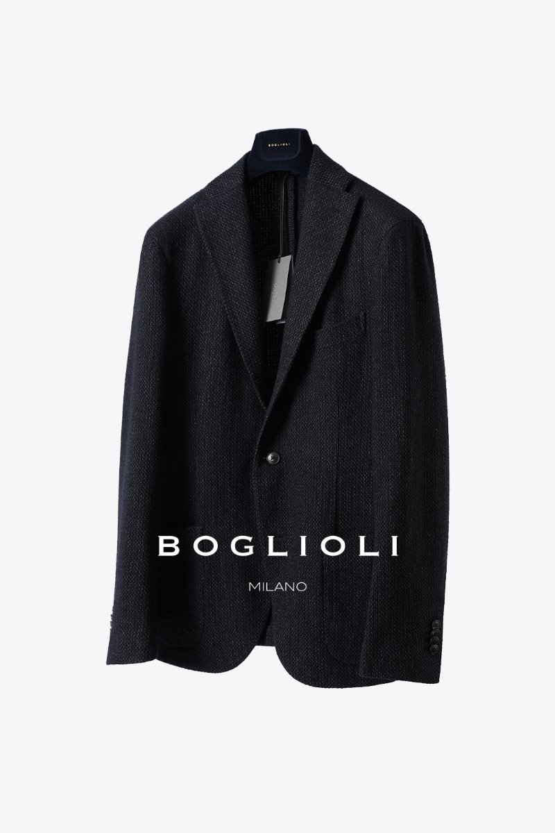 BOGLIOLI WOOL TWEED JACKET-NAVY[ITALY-Original]