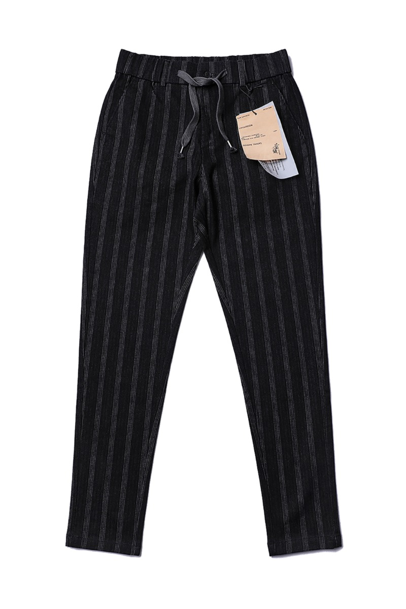 BONILLA STRIPE PANTS-BLACK수입한정제품