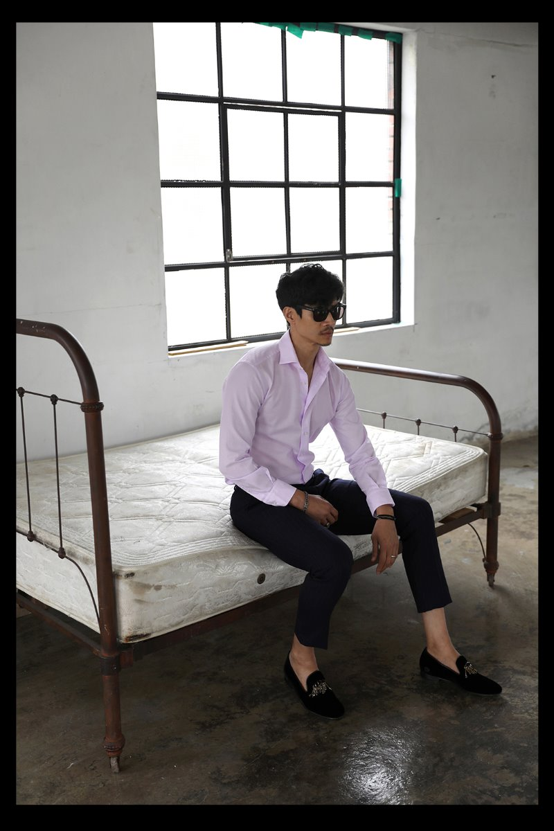 TAKE505 ITALIA WIDE COLLAR SHIRT-MOOD PINK-주간 베스트셀러!!