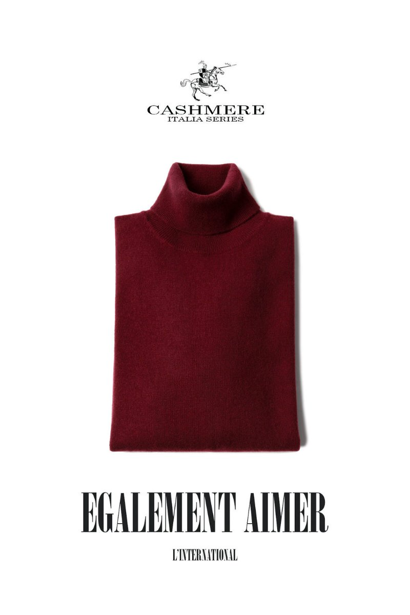 457 ROYAL CASHMERE TURTLENECK-FORTE WINE