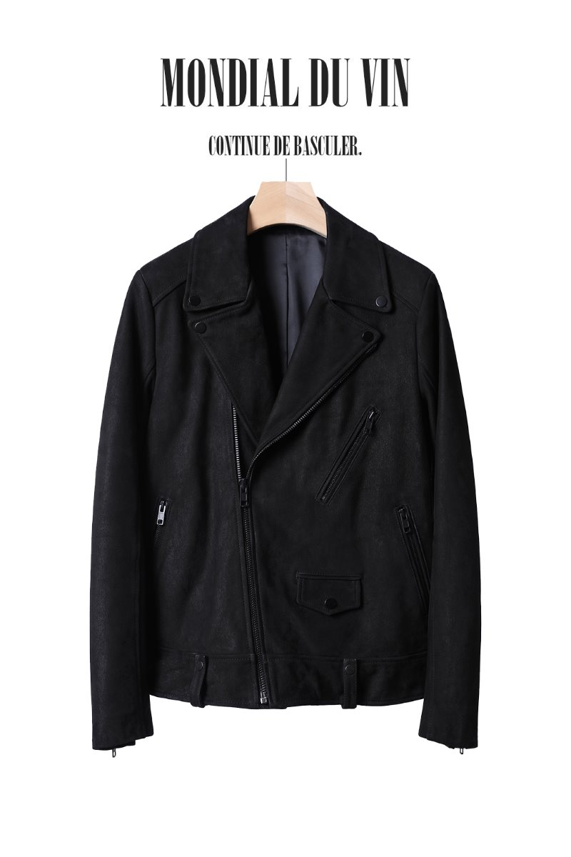 HARRIMAN LEATHER RIDER JACKET-BLACK