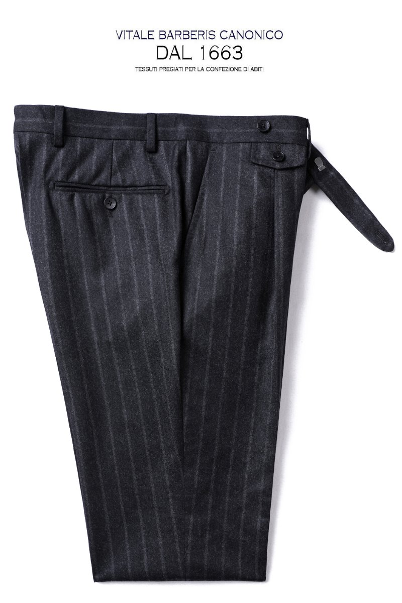 TAKE515 ITALY VITALE BARBERIS CANONICO 1663  STRIPE PANTS-CHARCOAL1/2이상판매완료!