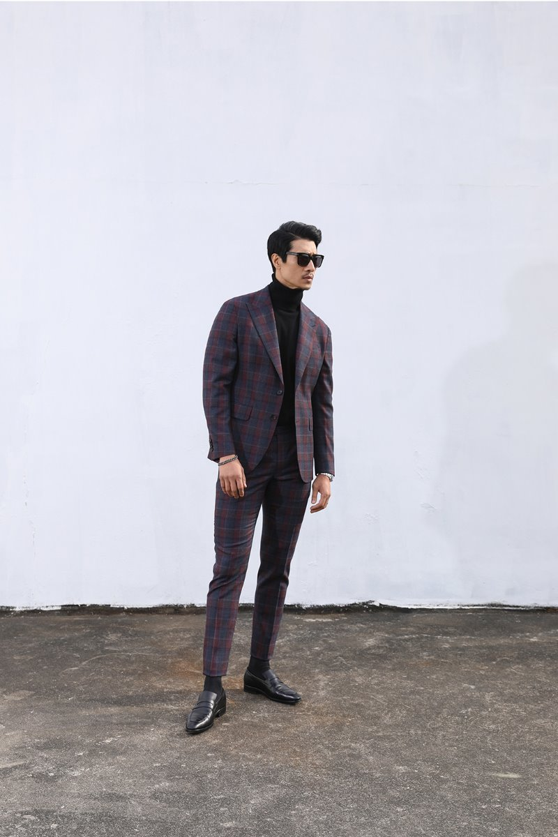 TAKE511 DRAGO ITALY CHECK SUIT-NATURALE SPALLA1/2이상 판매완료!