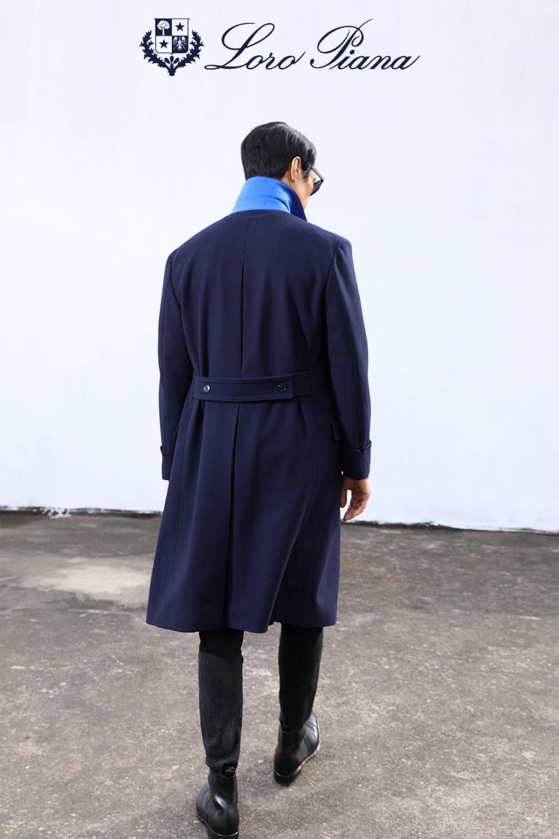TAKE517 LOROPIANA POLO COAT-NAVY로로피아나 코트