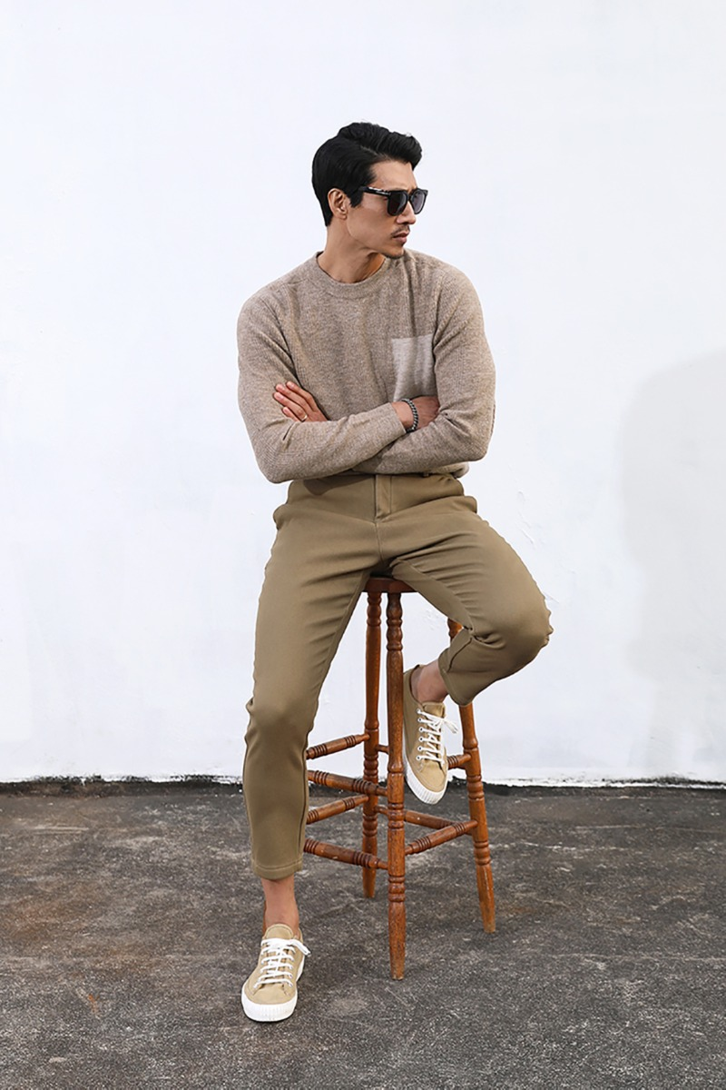 FAKE POCKET ROUND KNIT-MOCHA수입한정제품