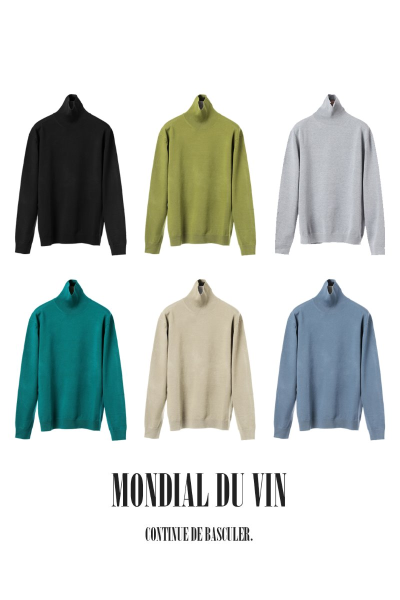 REINHART TURTLE NECK KNIT-6COLOR