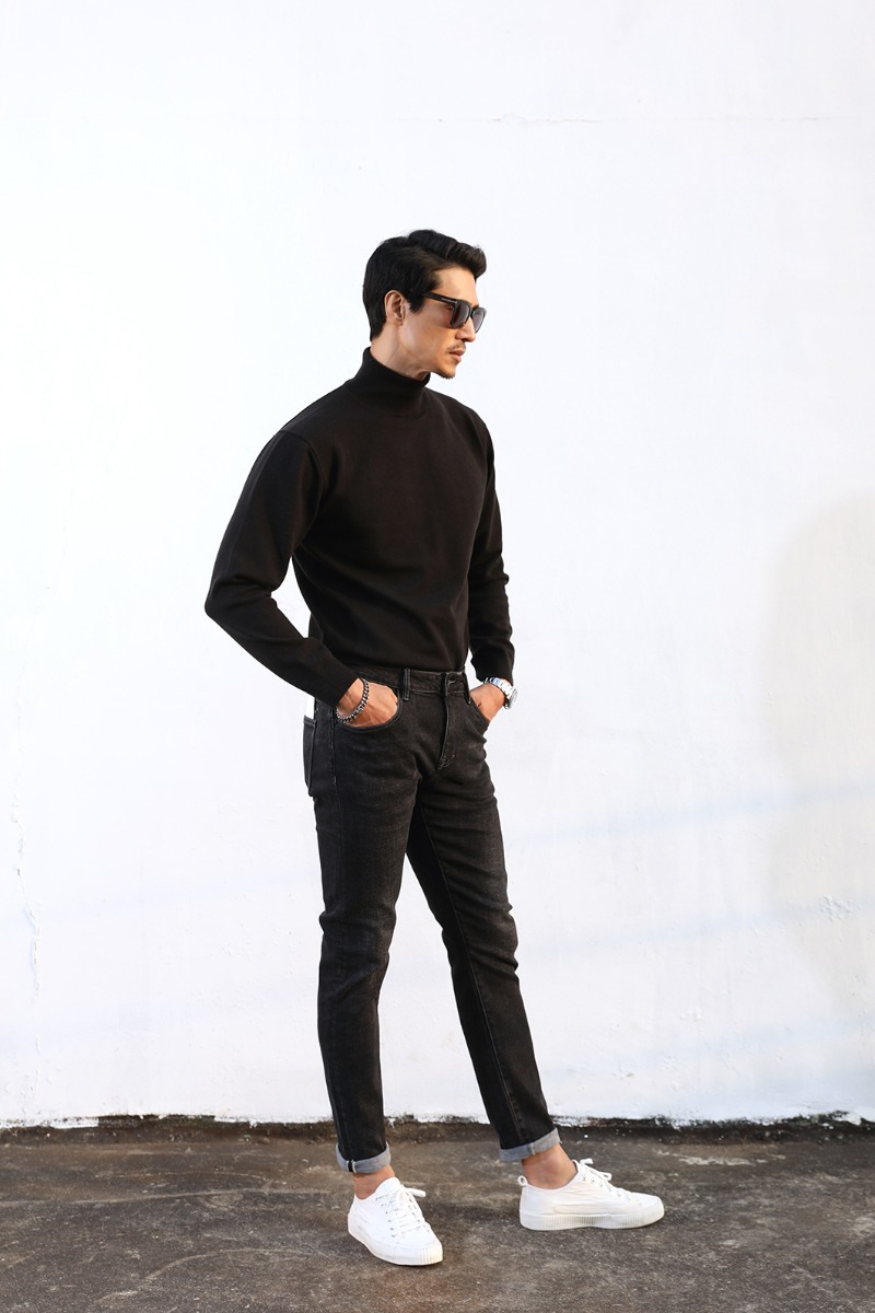 OGT 3205 S SLIM PANTS-BLACK수입한정제품