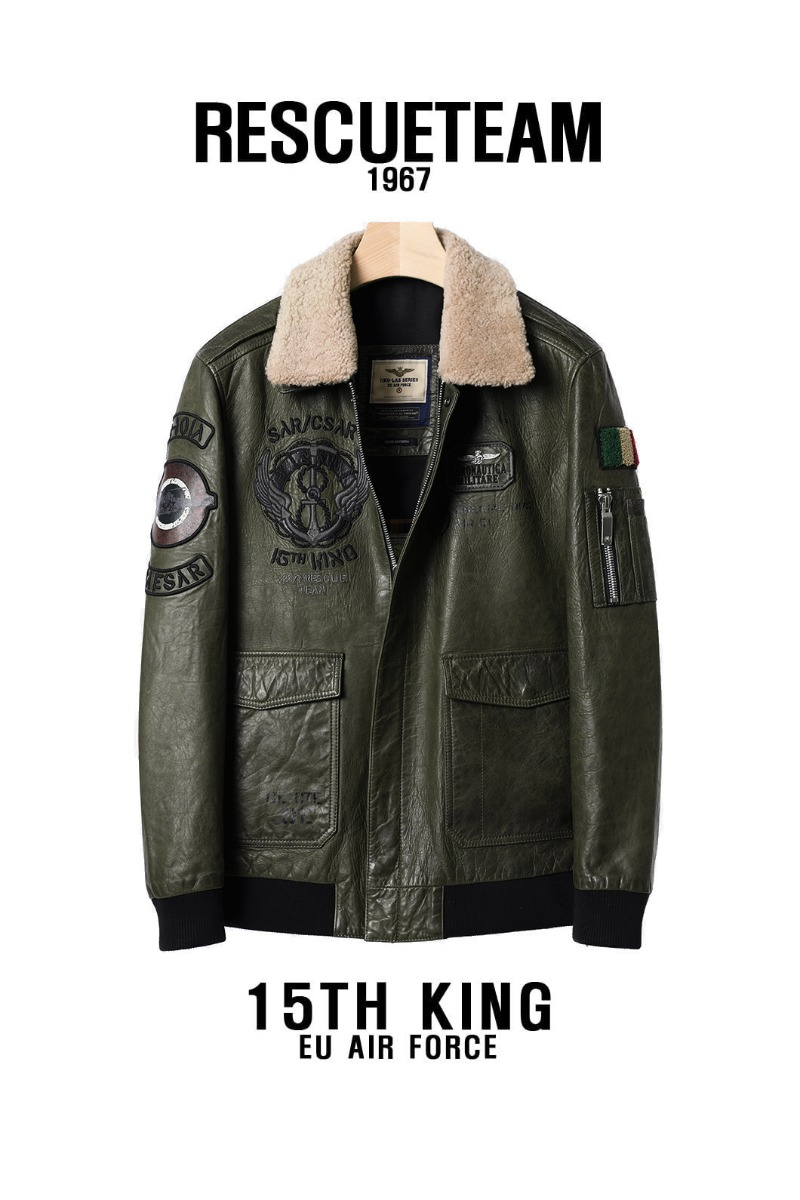 KING1967 LEATHER FLIGHT JACKET-2COLORPREMIUM소량 재입고완료!!