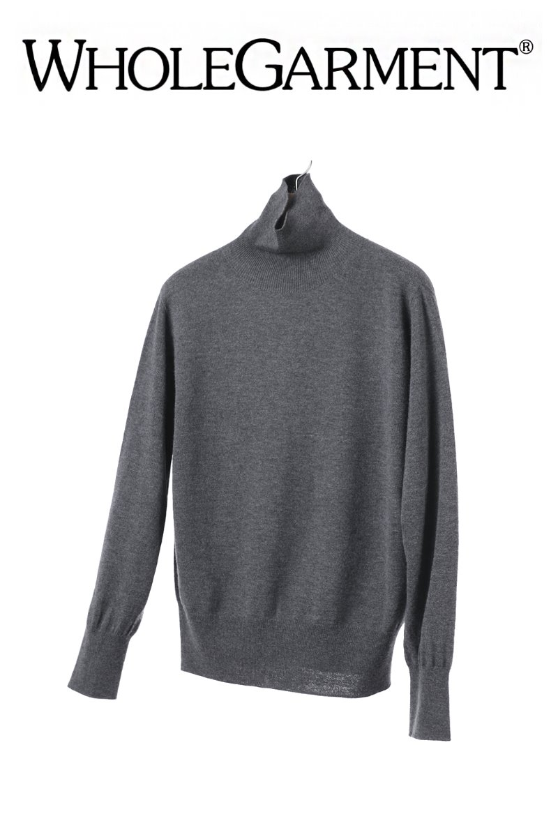 WHOLE GARMENT CLASSIC POLO NECK SWEATER-2COLOR