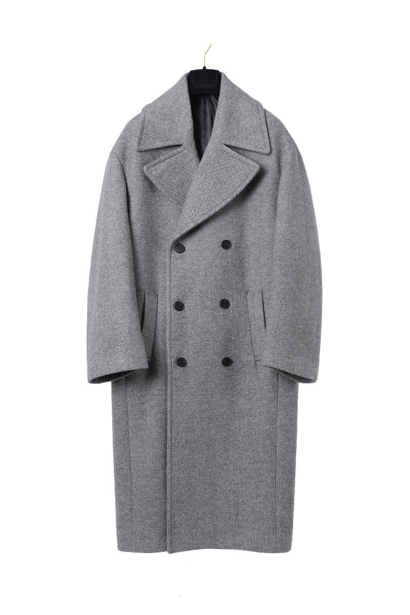 HERRINGBONE OVER DOUBLE COAT-2COLOR