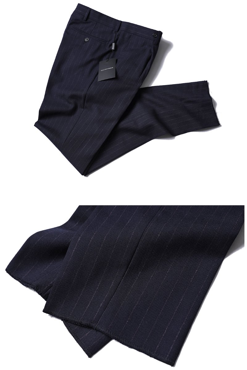 507 ITALY REDA 1865 STRIPE SLACKS PANTS-NAVY품절임박-마지막수량 할인!