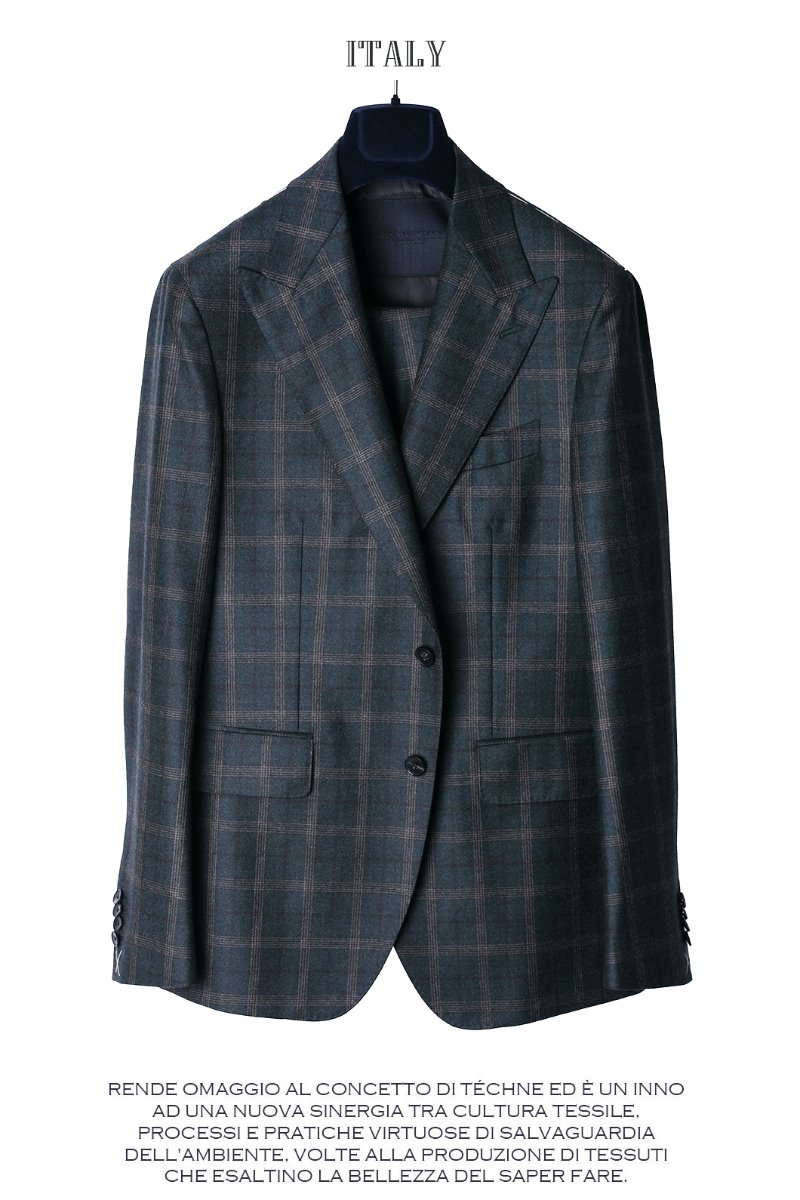 509 DRAGO ITALY CHECK SUIT-NATURALE SPALLA품절임박