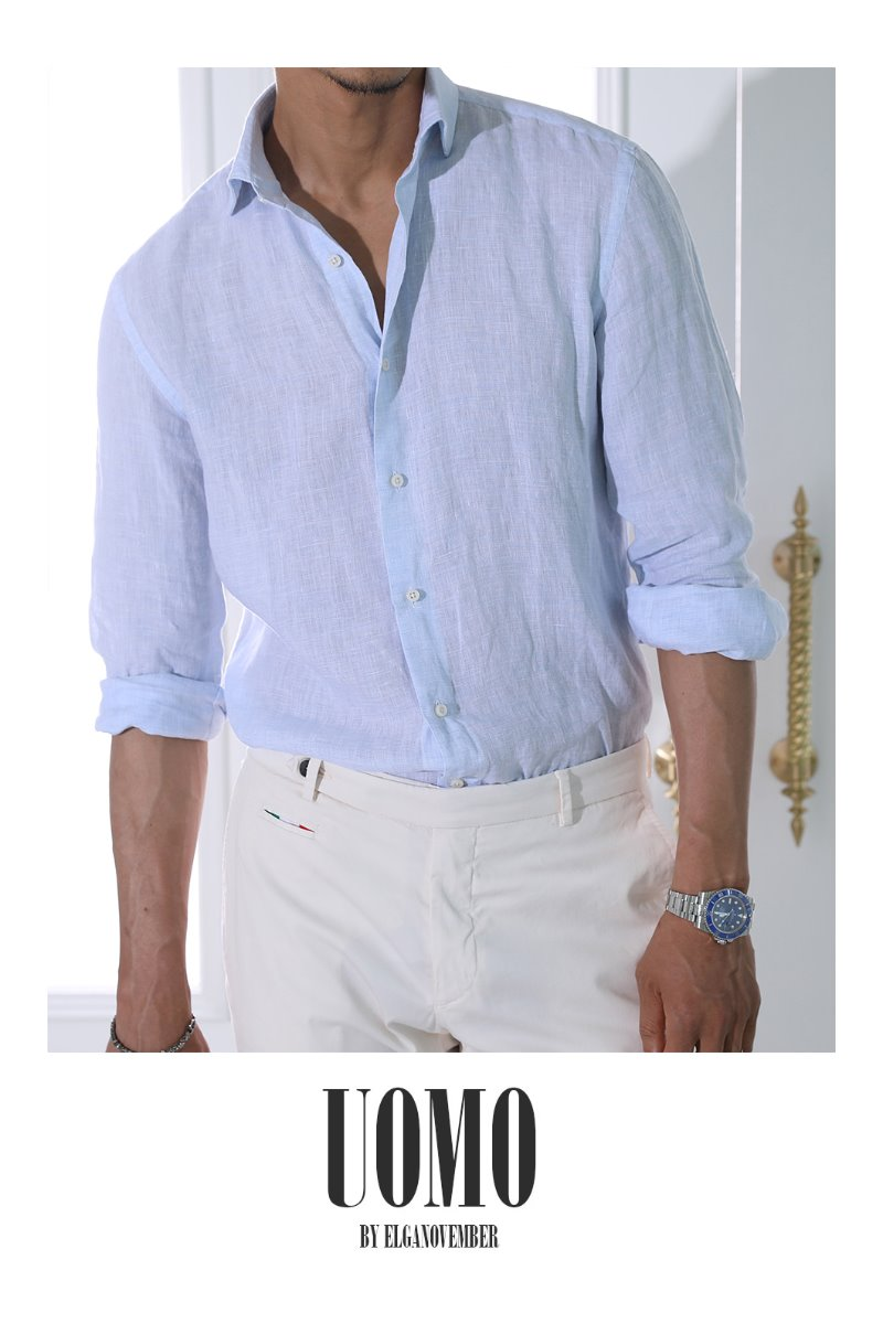 Take441 French linen shirt/poker blue-Best Seller!SUMMER EVENT 마지막수량 20% SALE!!