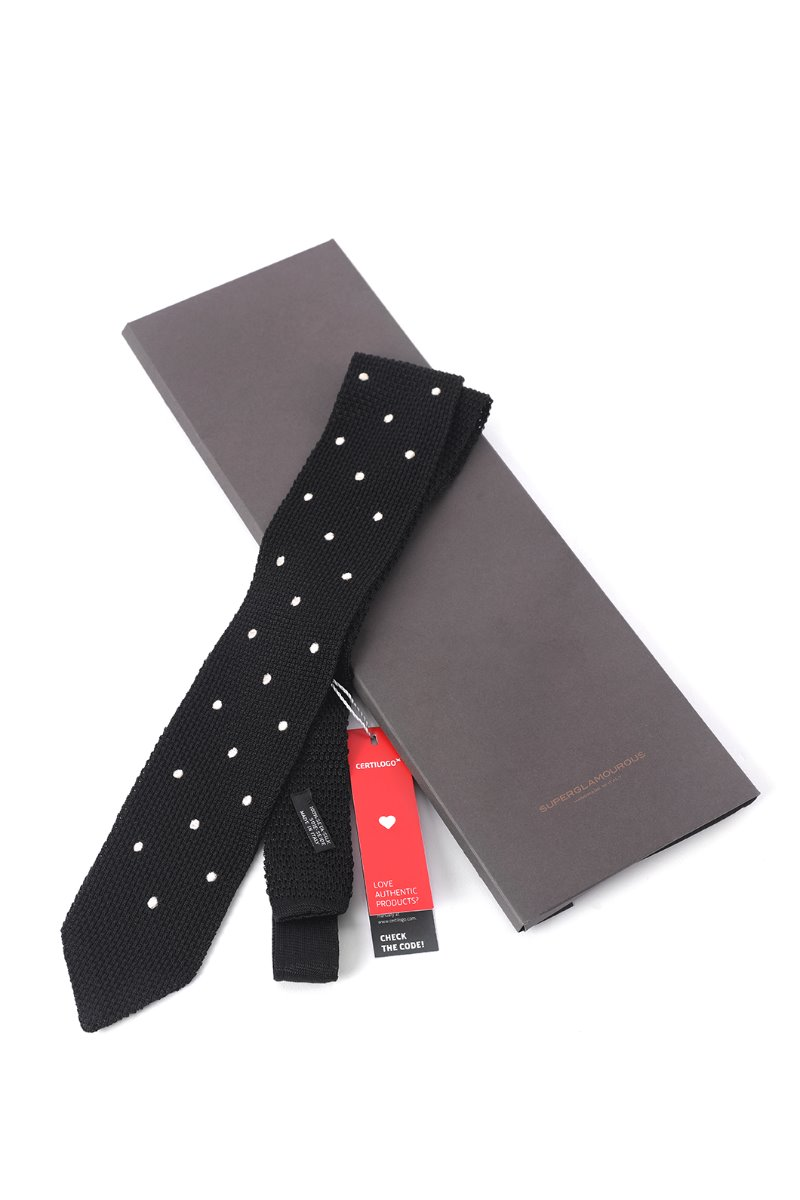 OPERETTA DOT SILK TIE-BLACK소량 한정수량