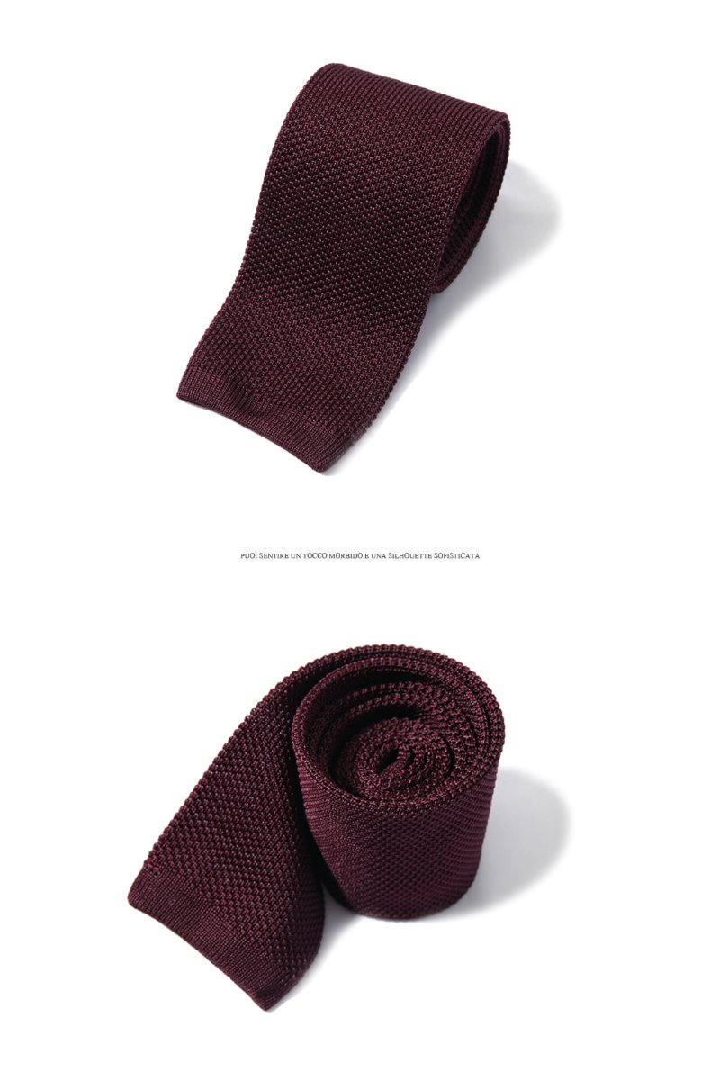 Take387 Quattro stagioni silk knit tie/wine소량 재입고완료!