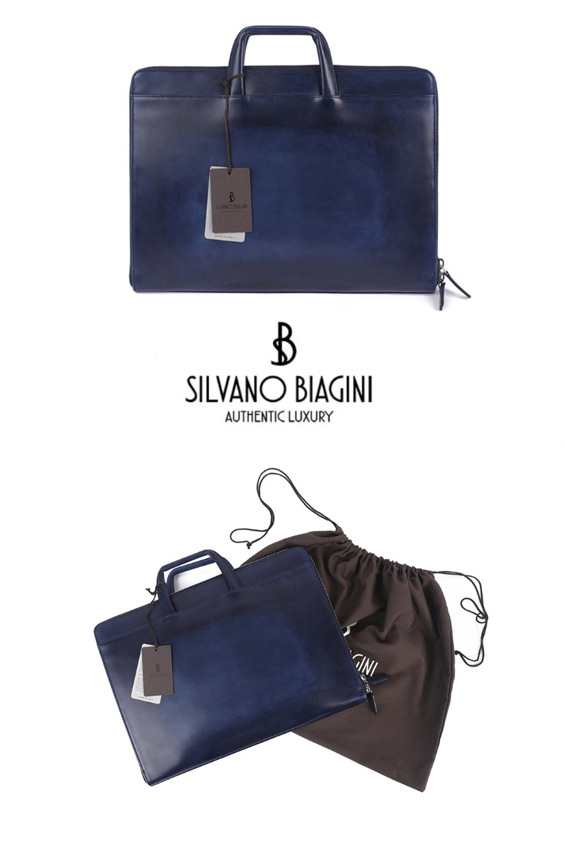 SILVANO BIAGINI WAIEA BRIEF CASE-NAVY극소량 한정!