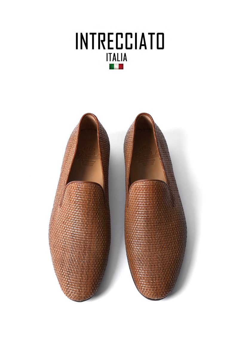 506 Artisan Intrecciato Loafer-Bright Brown