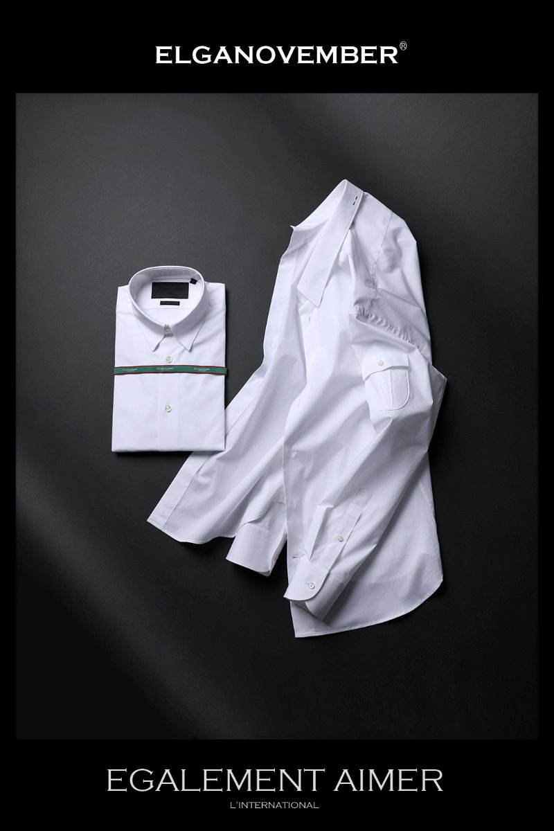 483 ITALIA A&C SIDE POCKET SHIRT-WHITE품절임박