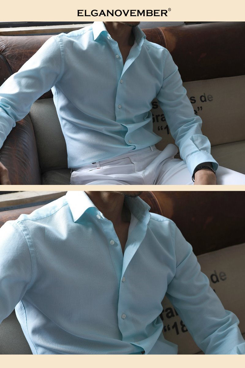 489 ITALIA Andreazza&Castelli WIDE COLLAR SHIRT-MINT