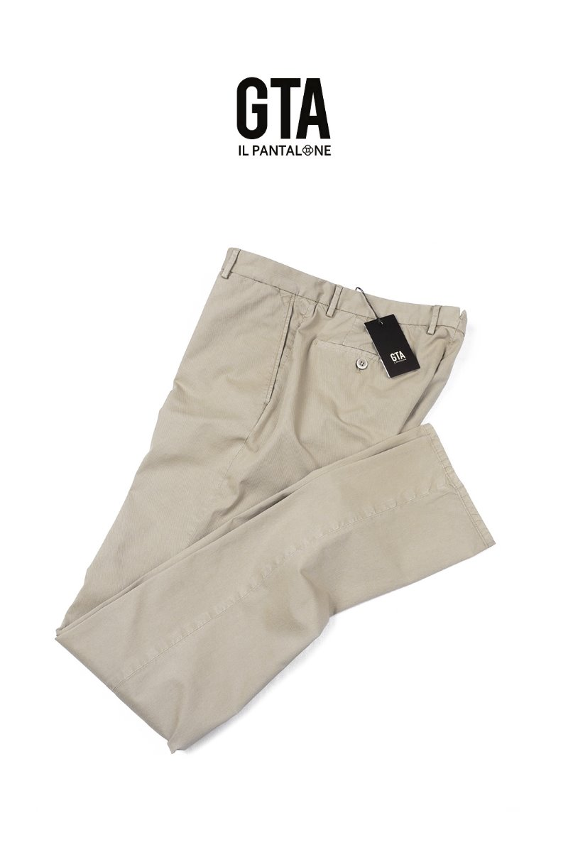 GTA WASHED COTTON PANTS-BEIGE