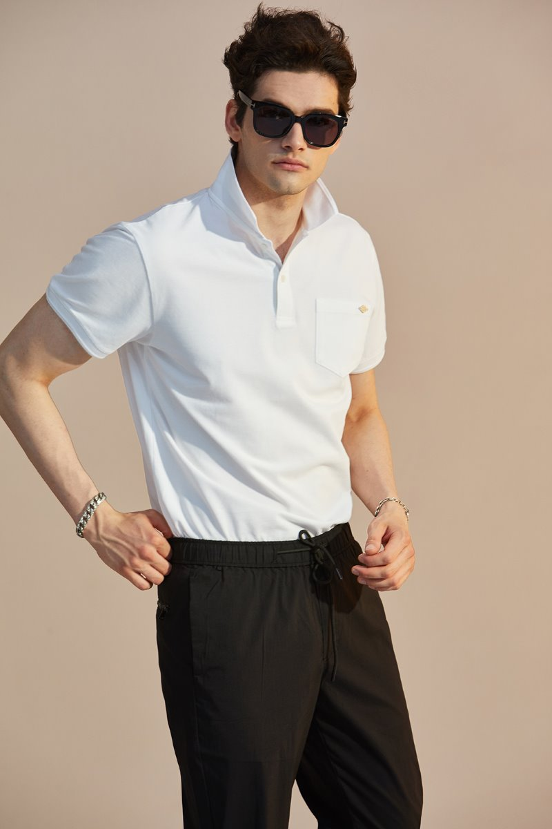 MAY COLLAR T-SHIRTS-WHITE