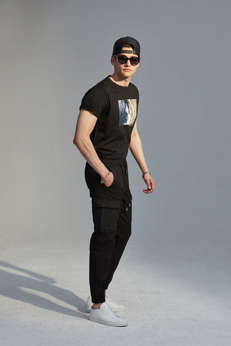 J&C JOGGERS CARGO PANTS-BLACK주간 베스트