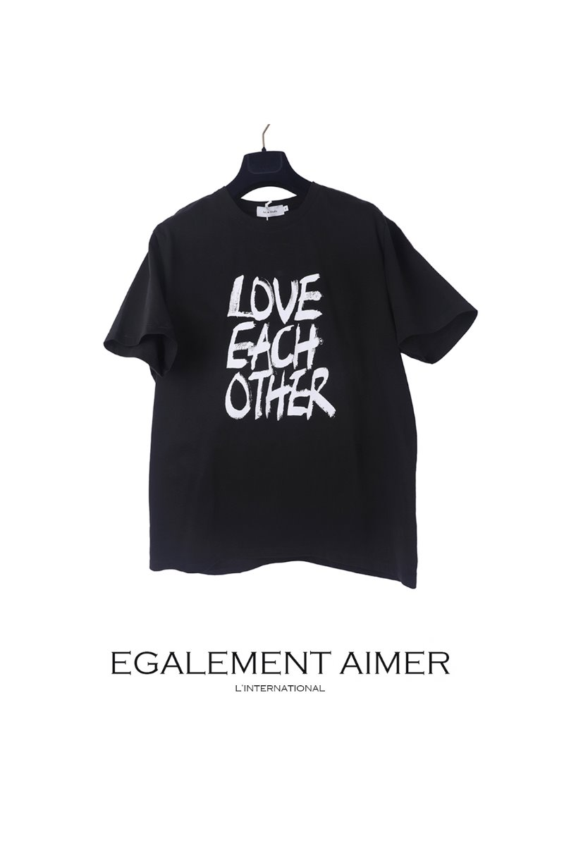 LOVE EACH OTHER T-SHIRTS-BLACK