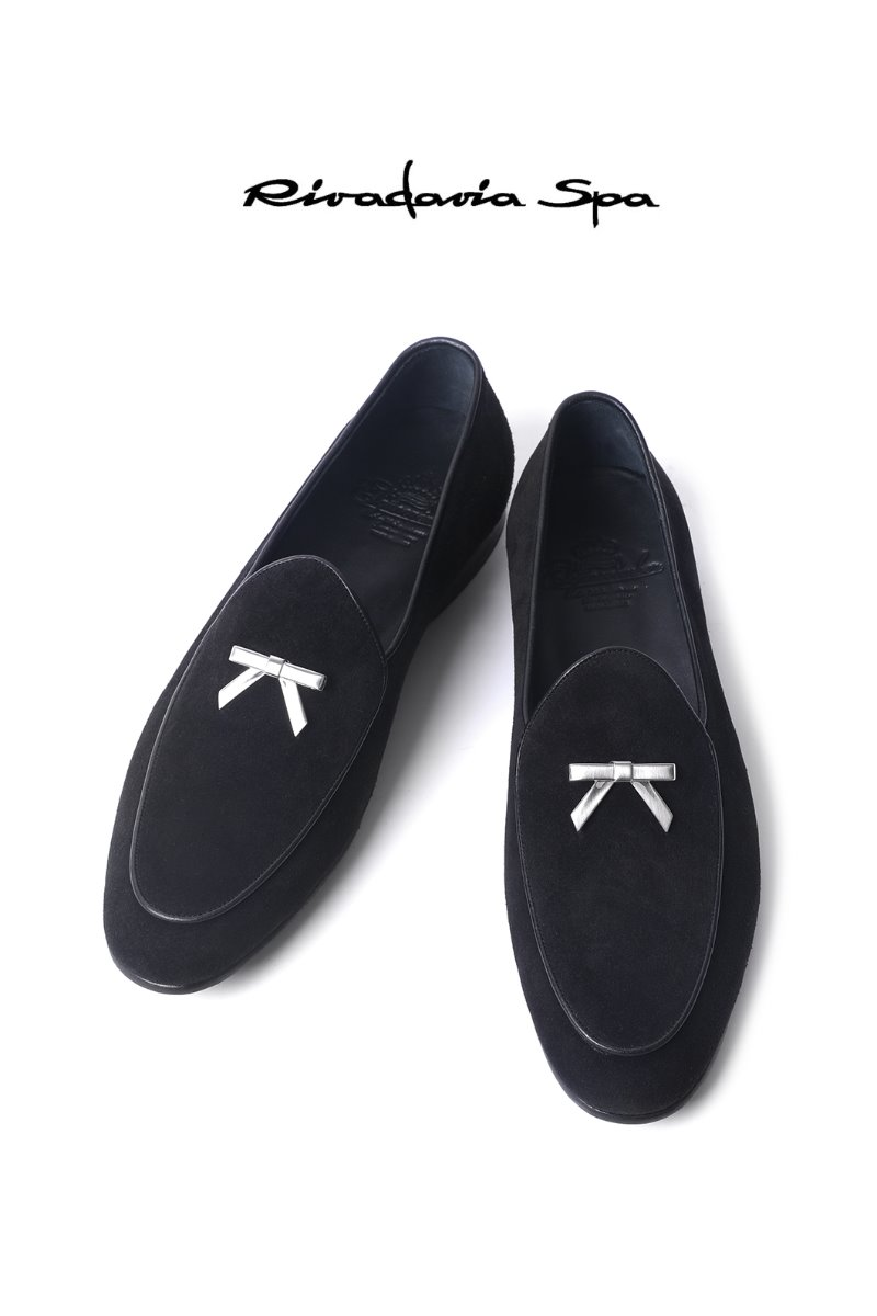 536  ITALY RIVADAVIA LOAFER-BLACK